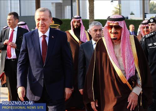 همسر اردوغان در عربستان به پستو رفت