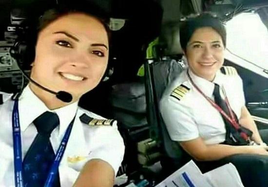 دو خانم خلبان ایرانی شاغل آمریکا