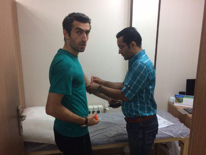 قبولی بازیکن همیشه مصدوم فوتبال ایران در تست های پزشکی +عکس