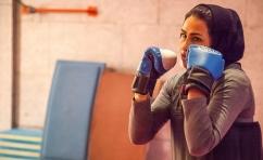 دختر کوچنشین، قهرمان کیک بوکسینگ/عکس