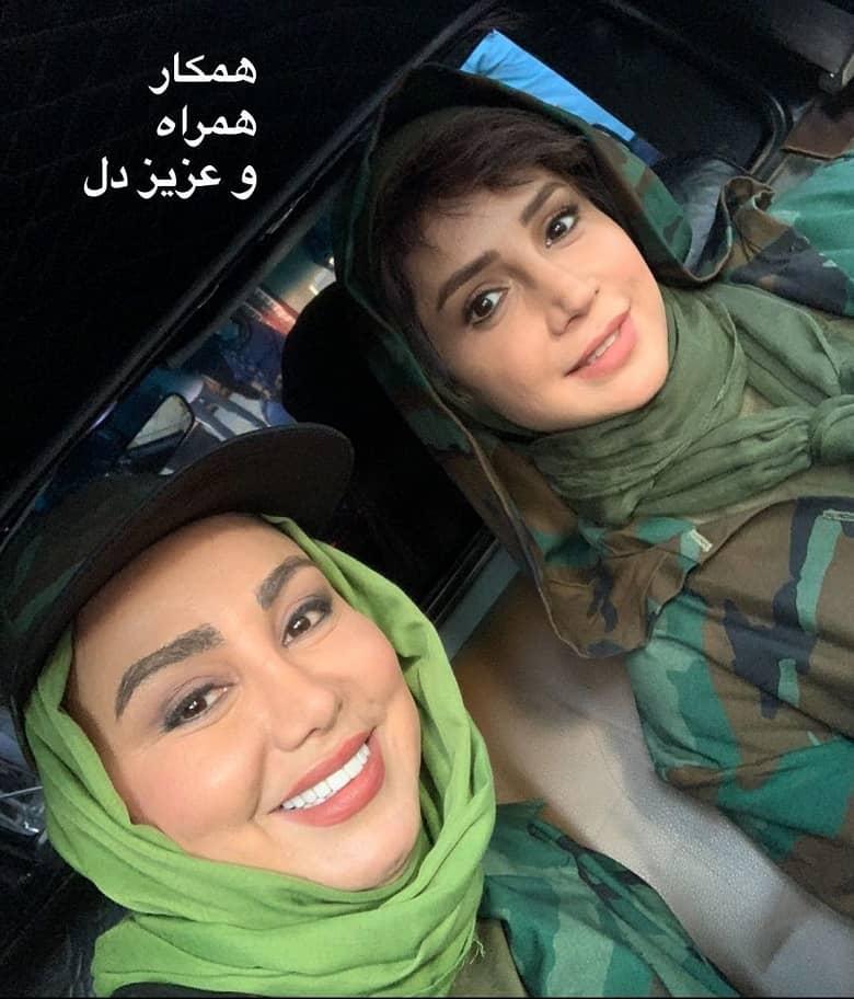 بهنوش بختیاری و شبنم قلی خانی با لباس پلنگ/عکس