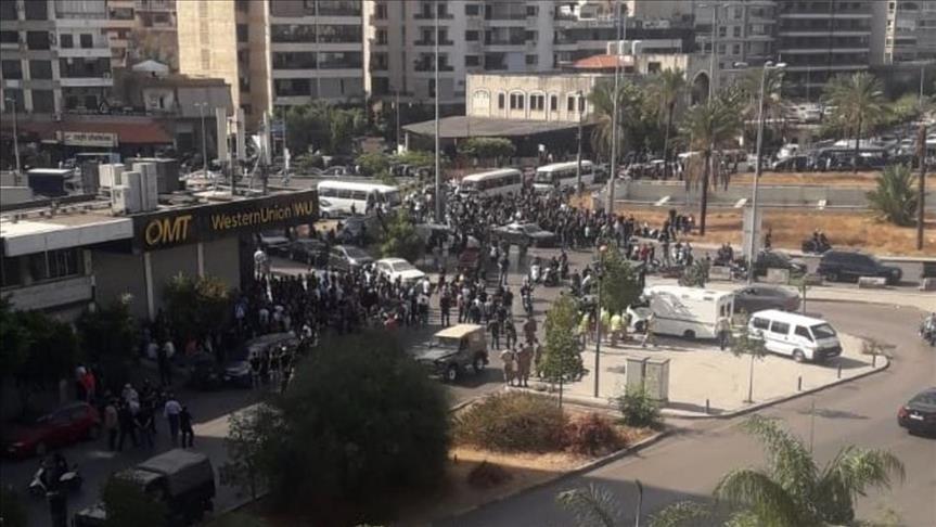 تیراندازی به سوی معترضان در پایتخت لبنان